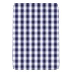 Usa Flag Blue And White Gingham Checked Flap Covers (l)  by PodArtist