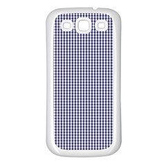 Usa Flag Blue And White Gingham Checked Samsung Galaxy S3 Back Case (white) by PodArtist