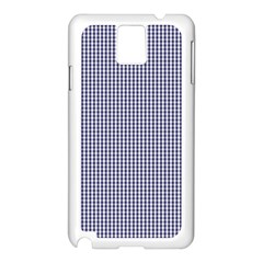 Usa Flag Blue And White Gingham Checked Samsung Galaxy Note 3 N9005 Case (white) by PodArtist