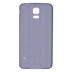 Usa Flag Blue And White Gingham Checked Samsung Galaxy S5 Back Case (white) by PodArtist