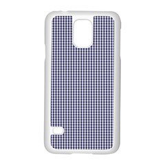 Usa Flag Blue And White Gingham Checked Samsung Galaxy S5 Case (white) by PodArtist
