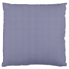 Usa Flag Blue And White Gingham Checked Standard Flano Cushion Case (two Sides) by PodArtist