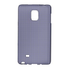 Usa Flag Blue And White Gingham Checked Galaxy Note Edge by PodArtist
