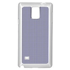 Usa Flag Blue And White Gingham Checked Samsung Galaxy Note 4 Case (white) by PodArtist