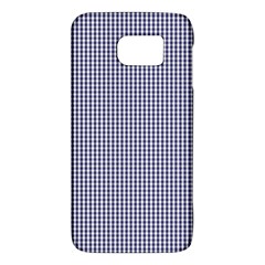 Usa Flag Blue And White Gingham Checked Galaxy S6 by PodArtist