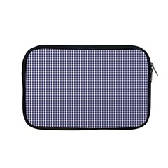 Usa Flag Blue And White Gingham Checked Apple Macbook Pro 13  Zipper Case by PodArtist