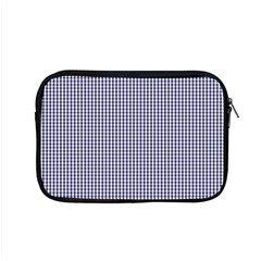Usa Flag Blue And White Gingham Checked Apple Macbook Pro 15  Zipper Case by PodArtist