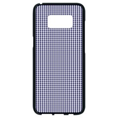 Usa Flag Blue And White Gingham Checked Samsung Galaxy S8 Black Seamless Case by PodArtist