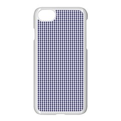 Usa Flag Blue And White Gingham Checked Apple Iphone 8 Seamless Case (white)