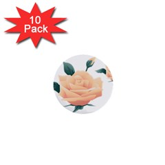 Rose Flower Nature Floral Summer 1  Mini Buttons (10 Pack)