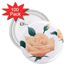 Rose Flower Nature Floral Summer 2 25  Buttons (100 Pack)