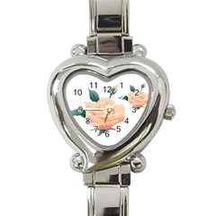 Rose Flower Nature Floral Summer Heart Italian Charm Watch by Sapixe