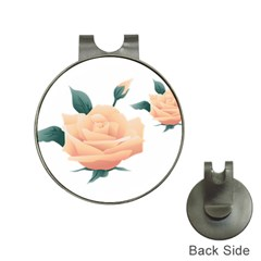 Rose Flower Nature Floral Summer Hat Clips With Golf Markers