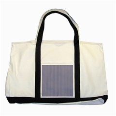 Usa Flag Blue And White Stripes Two Tone Tote Bag