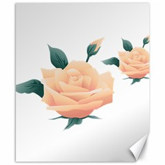 Rose Flower Nature Floral Summer Canvas 8  X 10  by Sapixe