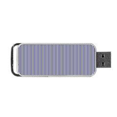 Usa Flag Blue And White Stripes Portable Usb Flash (two Sides) by PodArtist