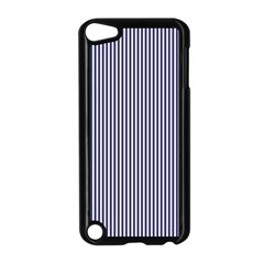Usa Flag Blue And White Stripes Apple Ipod Touch 5 Case (black) by PodArtist