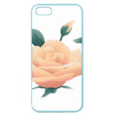 Rose Flower Nature Floral Summer Apple Seamless Iphone 5 Case (color)