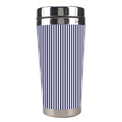 Usa Flag Blue And White Stripes Stainless Steel Travel Tumblers