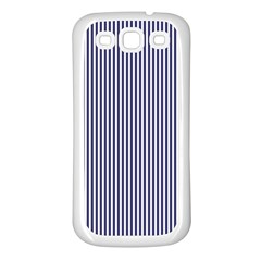 Usa Flag Blue And White Stripes Samsung Galaxy S3 Back Case (white)