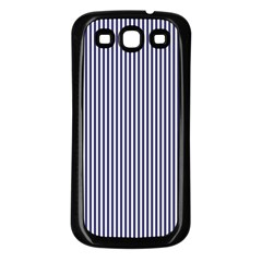 Usa Flag Blue And White Stripes Samsung Galaxy S3 Back Case (black)