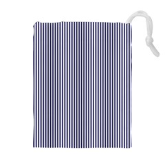 Usa Flag Blue And White Stripes Drawstring Pouches (extra Large) by PodArtist