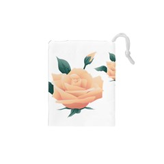 Rose Flower Nature Floral Summer Drawstring Pouches (xs)  by Sapixe