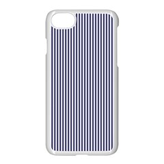 Usa Flag Blue And White Stripes Apple Iphone 7 Seamless Case (white)