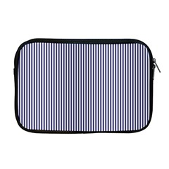 Usa Flag Blue And White Stripes Apple Macbook Pro 17  Zipper Case