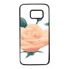 Rose Flower Nature Floral Summer Samsung Galaxy S7 Black Seamless Case by Sapixe