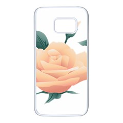 Rose Flower Nature Floral Summer Samsung Galaxy S7 White Seamless Case by Sapixe