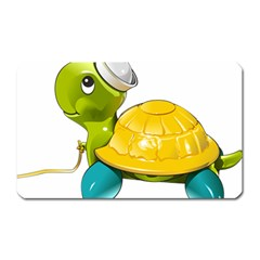 Turtle Sea Turtle Leatherback Turtle Magnet (rectangular) by Sapixe