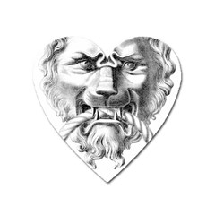 Steampunk Steam Punk Lion Door Heart Magnet by Sapixe