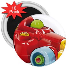 Car Vehicle Racing Car Formula 3  Magnets (10 Pack)  by Sapixe