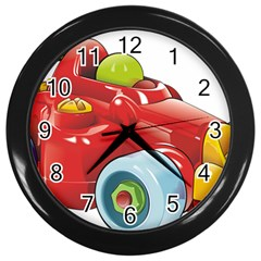 Car Vehicle Racing Car Formula Wall Clocks (black) by Sapixe
