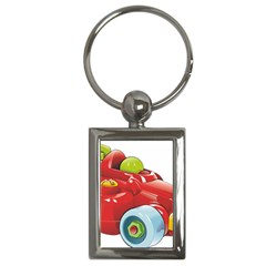 Car Vehicle Racing Car Formula Key Chains (rectangle)  by Sapixe