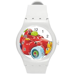Car Vehicle Racing Car Formula Round Plastic Sport Watch (m) by Sapixe