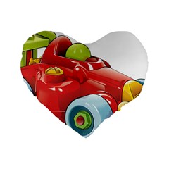 Car Vehicle Racing Car Formula Standard 16  Premium Heart Shape Cushions by Sapixe