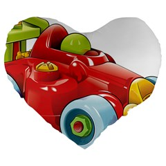Car Vehicle Racing Car Formula Large 19  Premium Heart Shape Cushions