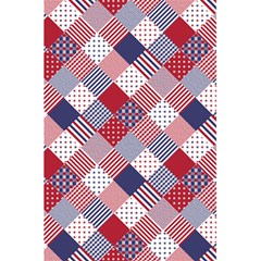 Usa Americana Diagonal Red White & Blue Quilt 5 5  X 8 5  Notebooks by PodArtist