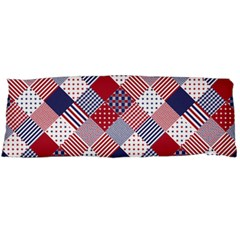 Usa Americana Diagonal Red White & Blue Quilt Body Pillow Case Dakimakura (two Sides) by PodArtist