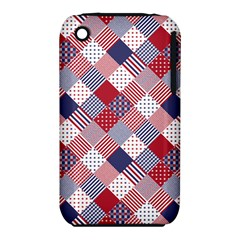 Usa Americana Diagonal Red White & Blue Quilt Iphone 3s/3gs by PodArtist