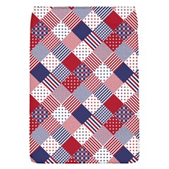 Usa Americana Diagonal Red White & Blue Quilt Flap Covers (s)  by PodArtist
