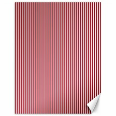 Usa Flag Red And White Stripes Canvas 12  X 16   by PodArtist