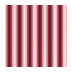 Usa Flag Red And White Stripes Medium Glasses Cloth (2 Side) by PodArtist