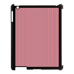 Usa Flag Red And White Stripes Apple Ipad 3/4 Case (black) by PodArtist
