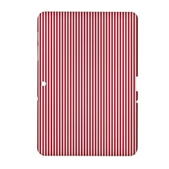 Usa Flag Red And White Stripes Samsung Galaxy Tab 2 (10 1 ) P5100 Hardshell Case  by PodArtist