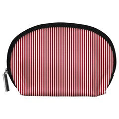 Usa Flag Red And White Stripes Accessory Pouches (large)  by PodArtist