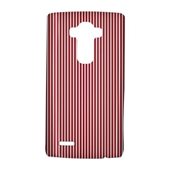 Usa Flag Red And White Stripes Lg G4 Hardshell Case by PodArtist