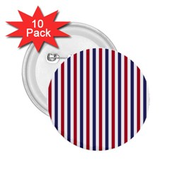 Usa Flag Red White And Flag Blue Wide Stripes 2 25  Buttons (10 Pack)  by PodArtist